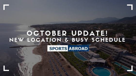 October Update! New Location & Busy Schedule
